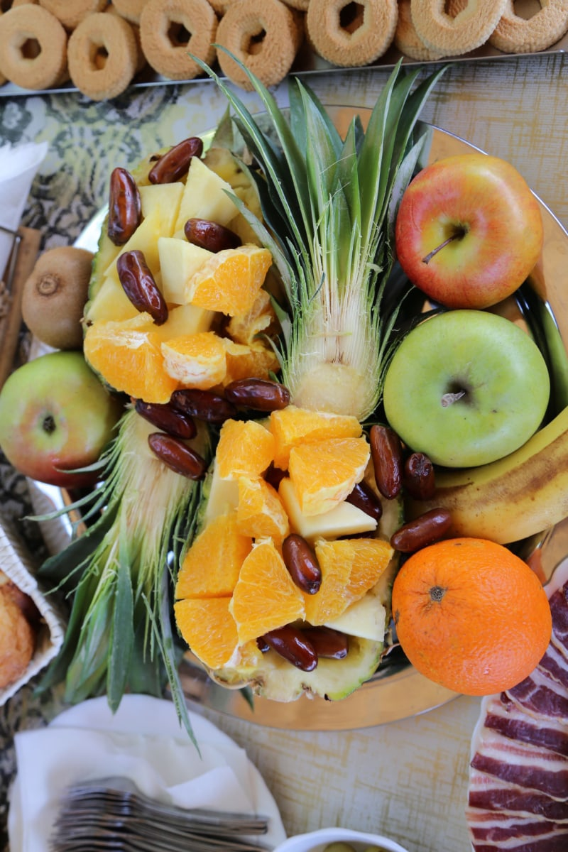 kekse, Salat, Ananas, Salat-bar, Äpfel, Bio, Obst, Orangen, tropische, garnieren