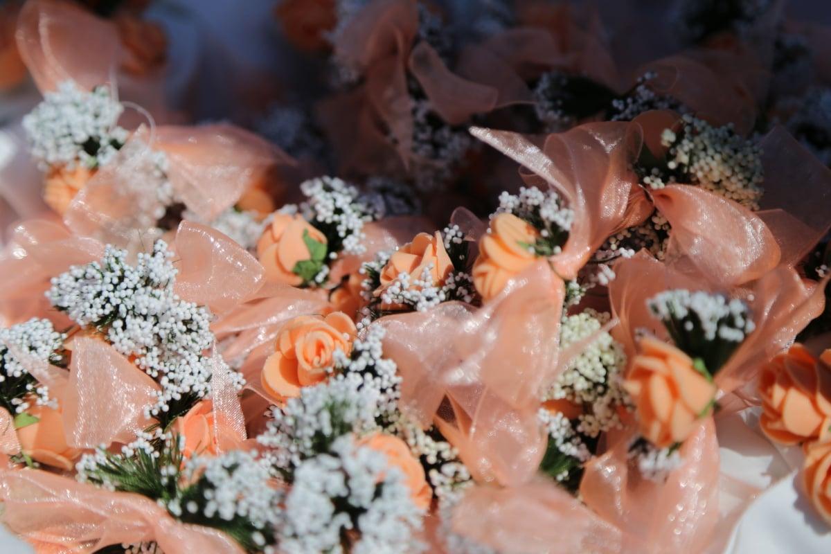 Seide, Multifunktionsleiste, handgefertigte, Rosen, Dekoration, Blumenstrauß, Natur, traditionelle, Orange gelb, kleine