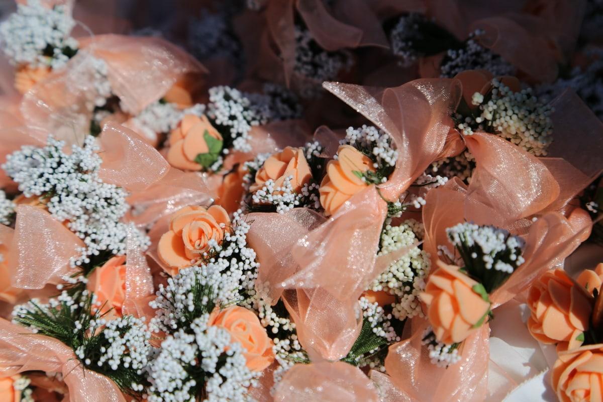 Dekoration, hausgemachte, handgefertigte, romantische, traditionelle, Romantik, Blume, Liebe, Hochzeit, Nahansicht