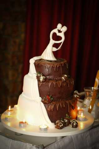 romantic, candles, wedding cake, chocolate cake, candle, luxury, chocolate, celebration, wedding, interior design