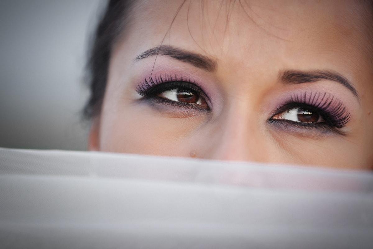 Braun, Augen, Frau, Wimpern, Gesicht, Haut, attraktiv, Porträt, Auge, Mädchen