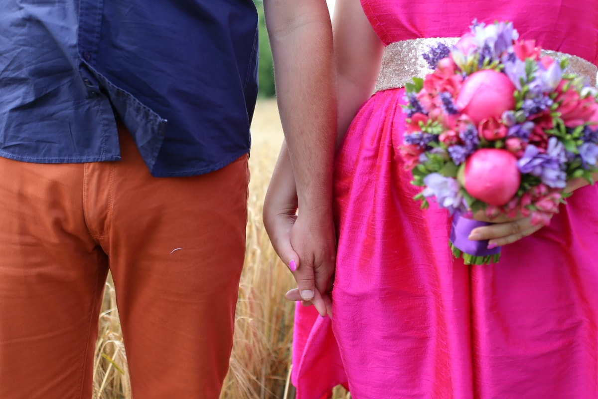 romantic, hands, love, wheatfield, happy, people, person, pretty, smiling, portrait