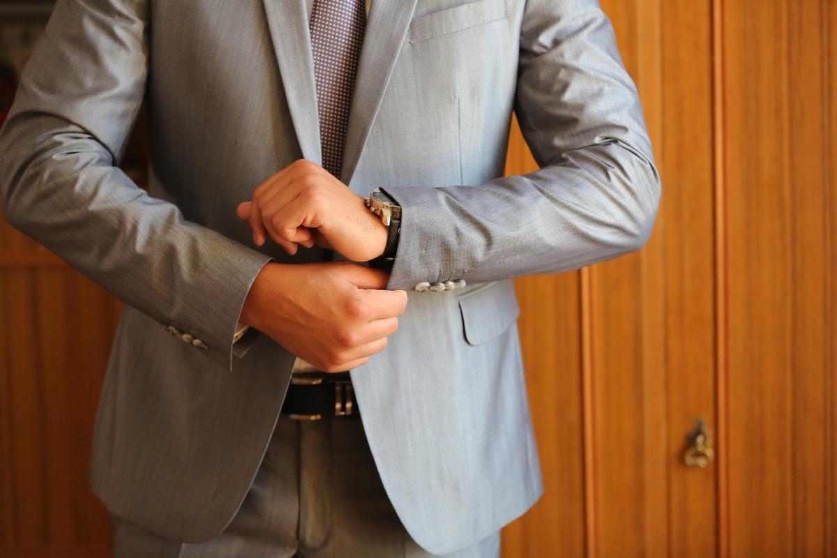 suit, businessman, elegance, wristwatch, office, silk, belt, pants, garment, business