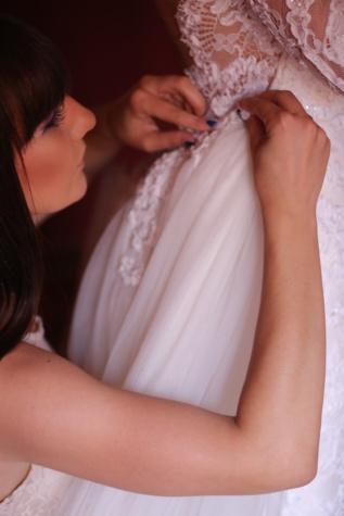 pretty girl, side view, wedding dress, dress, hands, handmade, fashion, woman, wedding, bride