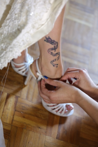 shoemaker, shoes, handmade, sandal, tattoo, wedding dress, wedding, salon, hand, body