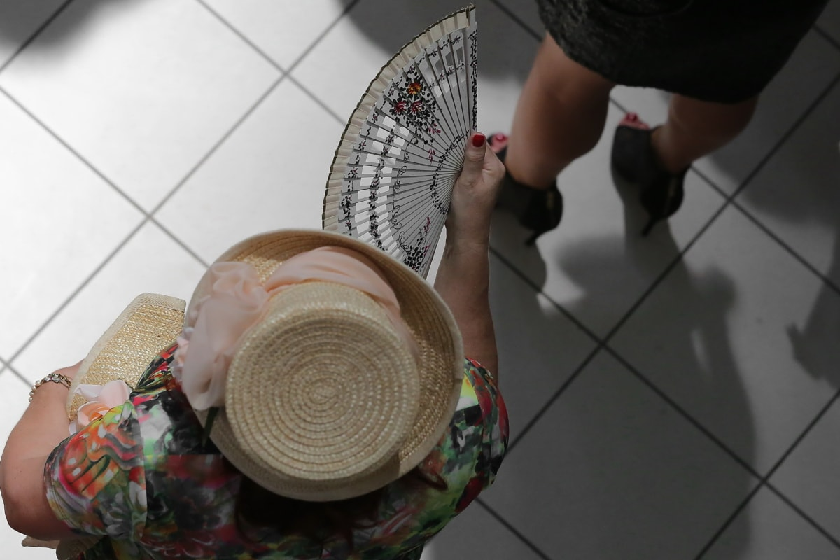 hot air, ventilation, motion, movement, air, fashion, hat, woman, device, people
