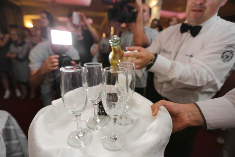 celebration, ceremony, champagne, white wine, bartender, party, glass, drink, wedding, restaurant