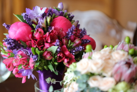 wedding, wedding bouquet, cluster, pastel, colorful, bouquet, nature, flower, flowers, pink