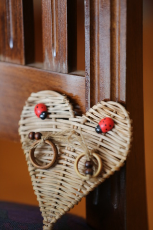 handmade, heart, wooden, light brown, craft, interior decoration, wood, indoors, retro, interior design