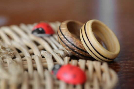 rings, wooden, jewelry, handmade, traditional, wood, rope, blur, dry, still life