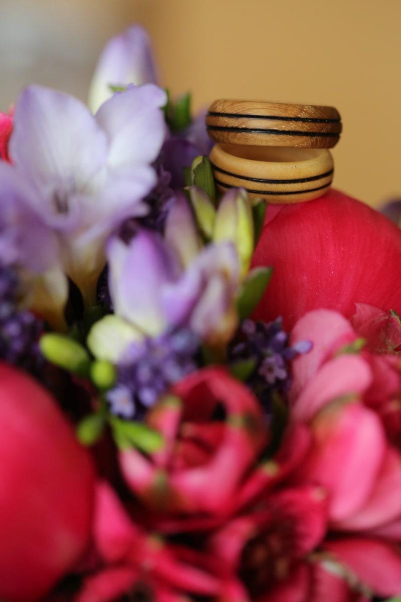 handmade, bouquet, rings, wedding ring, wooden, gifts, flower, nature, arrangement, spring