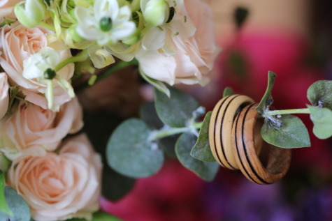 wooden, wedding ring, handmade, flowers, romantic, love, close-up, arrangement, plant, bouquet