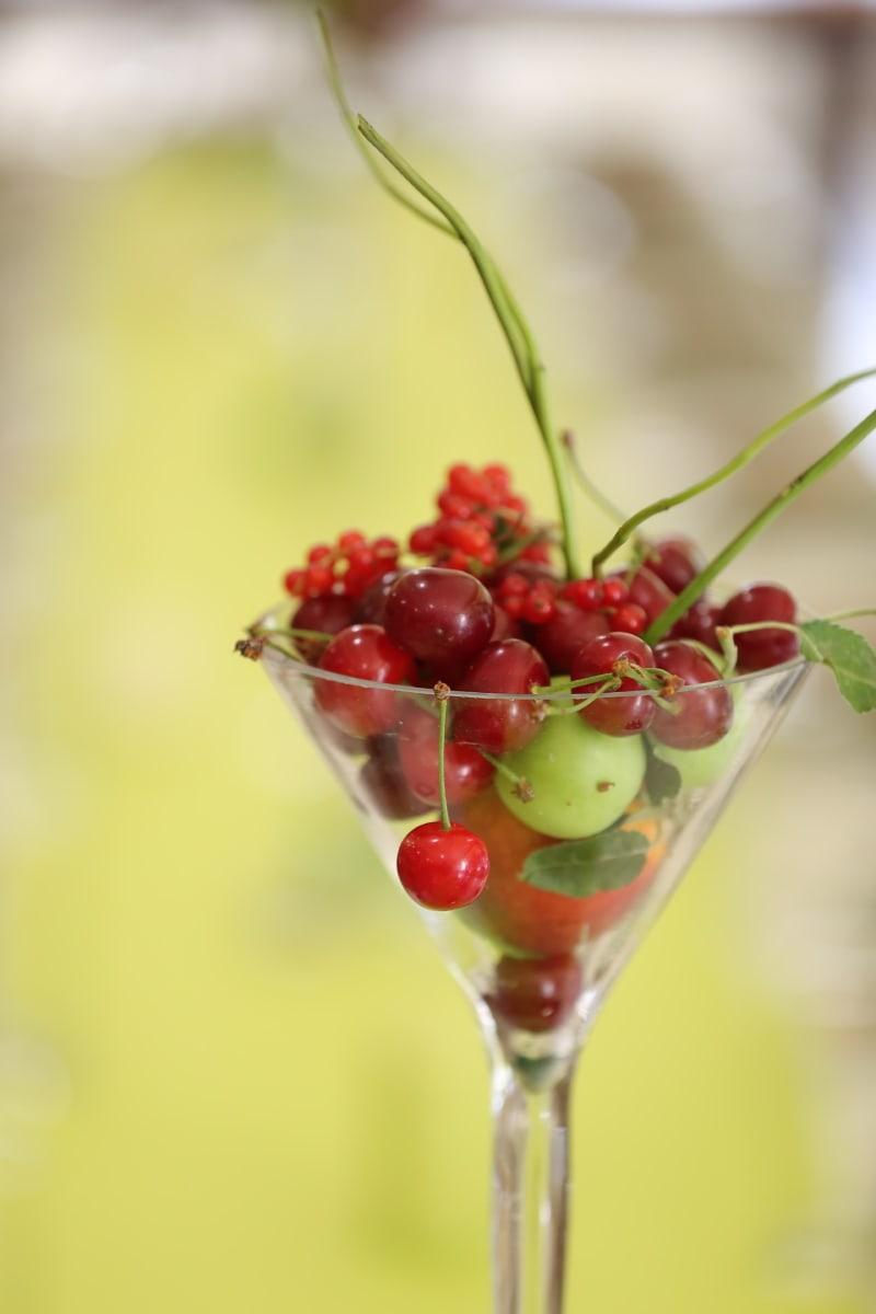 cocktail, cerises, doux, groseille, cerise, frais, baie, fruits, dessert, vitamine