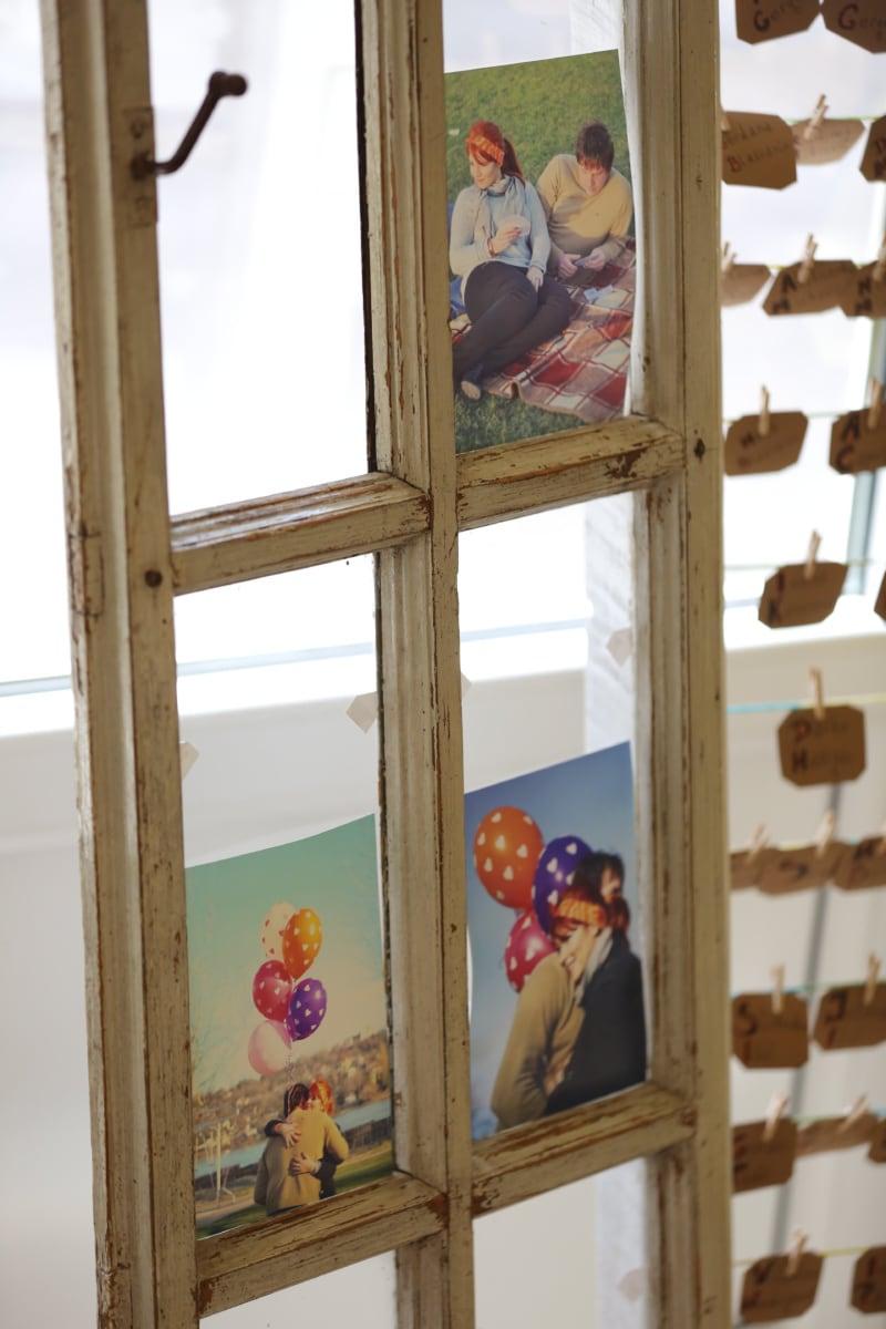 windows, memorabilia, photograph, picture, frame, handmade, still life, furniture, window, wood