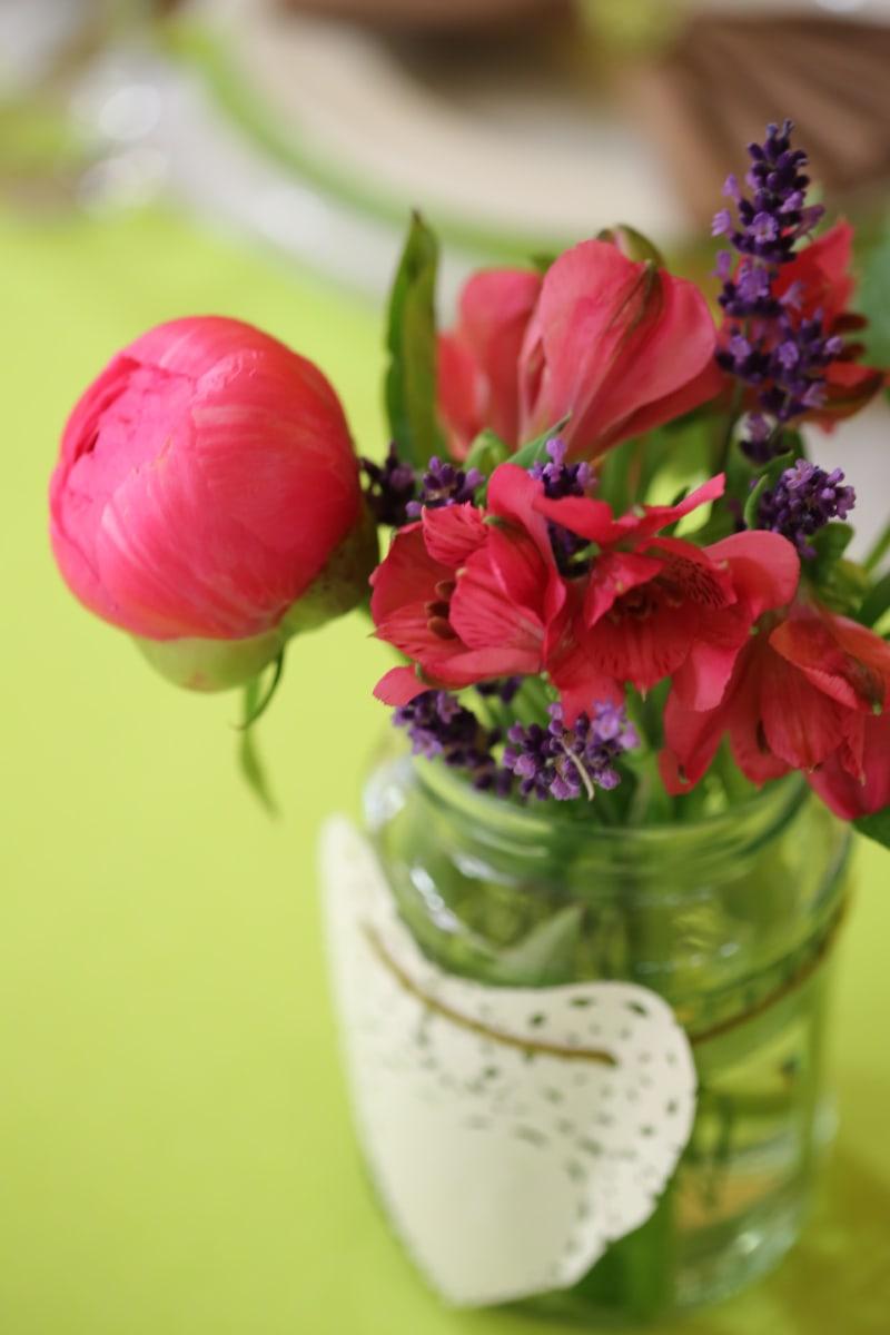 flowers, heart, vase, still life, jar, flower, decoration, arrangement, nature, bouquet
