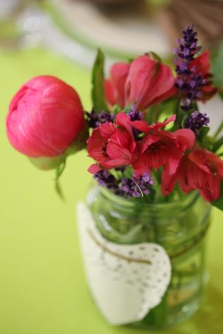 wildflower, jar, decoration, pink, arrangement, bouquet, flower, vase, flowers, petal