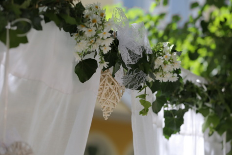 romance, flowers, handmade, homemade, hanging, decorative, curtain, bouquet, wedding, arrangement