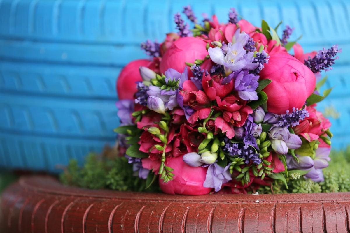 bouquet de mariage, objet, décoration, pneu, cadeau, arrangement, Rose, fleur, fleurs, bouquet