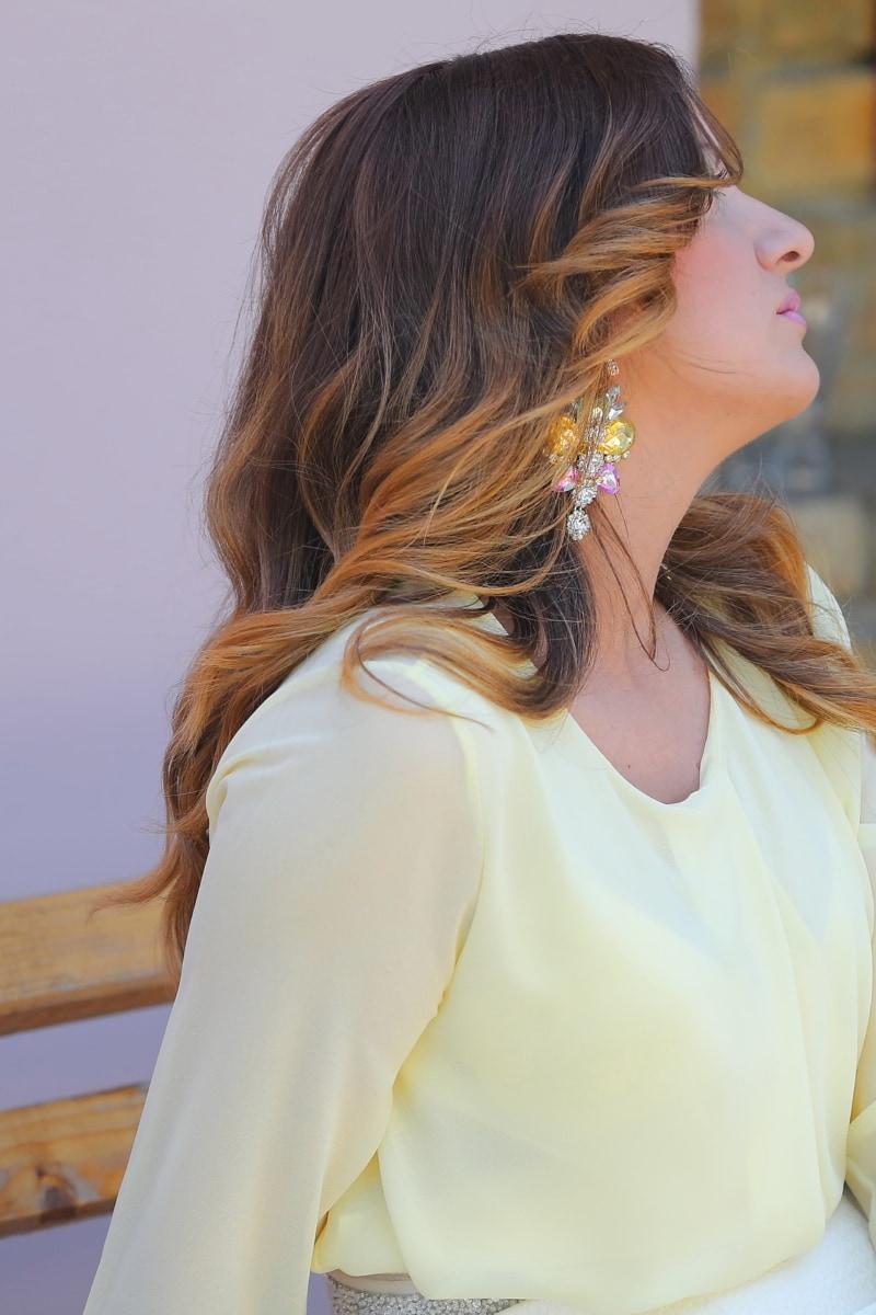 зачіска, сережки, Діамант, коштовність, Діамант, гламур, ювелірні вироби, Гарненький, модель, мода