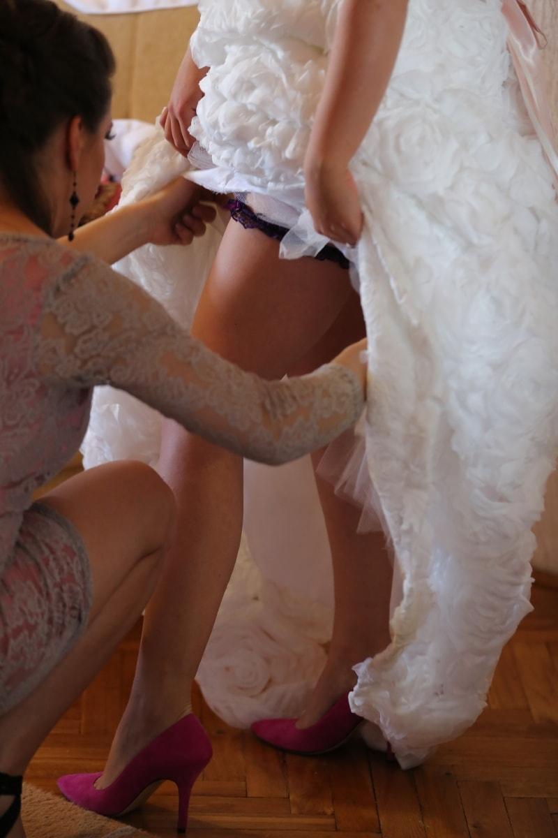 robe de mariée, jambes, petite amie, Jolie fille, Beau, vêtements, modèle, joli, attrayant, mode