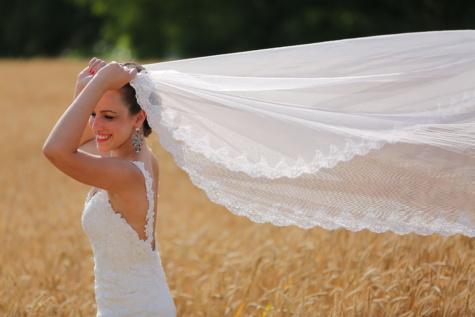 robe de mariée, voile, bonheur, la mariée, Smile, visage, Portrait, parasol, femme, mariage