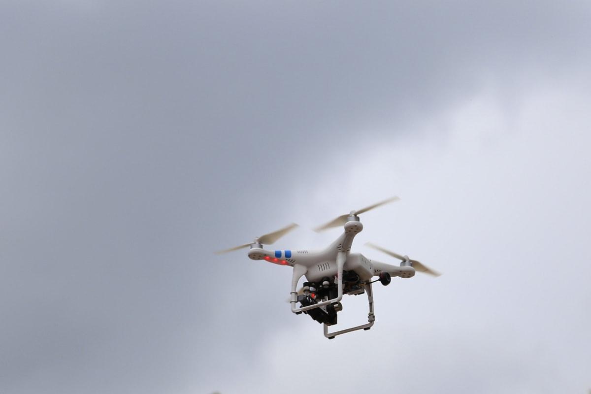 dron, vol, surveillance, hélice, commande à distance, air, en volant, acrobaties aériennes, véhicule, vent