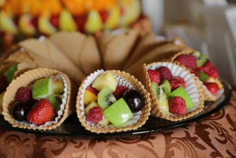 Obst, Dessert, Salat-bar, Ice cream, hausgemachte, Essen, sehr lecker, Mahlzeit, Sushi, süß