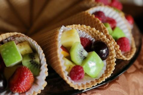 jäätelö, hedelmät, ruokavalion, välipala, orgaaninen, ruoka, makea, mansikka, Kiwi, jälkiruoka