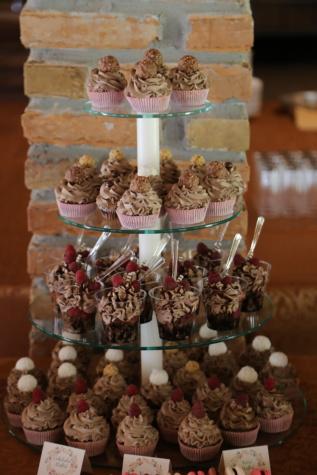 hallon, muffin, glasspinne, sked, efterrätt, Konfektyr, socker, choklad, godis, mat