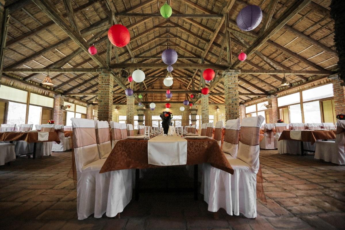 dining area, lunchroom, restaurant, cafeteria, indoors, interior, interior design, table, religion, furniture