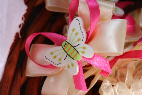 butterfly, handmade, ribbon, decorative, interior decoration, silk, thread, traditional, indoors, decoration