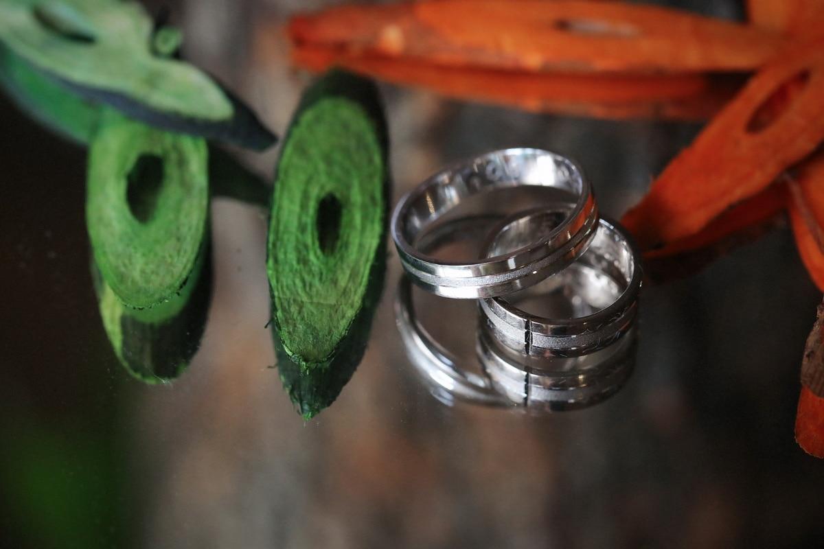 платина, венчален пръстен, пръстени, огледало, ръчно изработени, отражение, скъпо, Злато, на открито, бижута