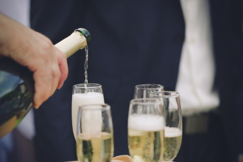 champagne, white wine, bottle, alcohol, glass, liquid, party, glassware, hand, wine
