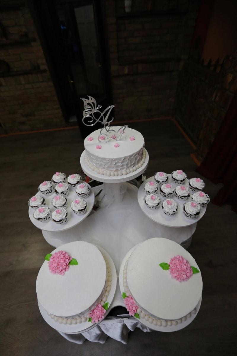 wedding cake, cakes, cupcake, wedding, still life, table, food, decoration, indoors, celebration