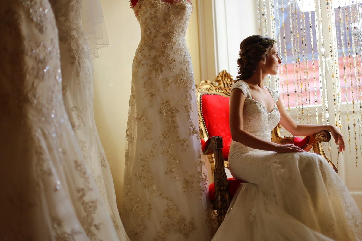 Salon, cửa hàng, váy cưới, thời trang, làm bằng tay, đám cưới, cô dâu, Yêu, ăn mặc, người phụ nữ