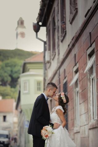 baiser, jeune marié, la mariée, amour, mariage, romance, femme, homme, gens, à l'extérieur