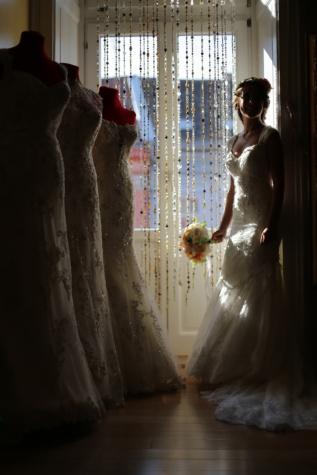 magasin, Shopping, robe de mariée, Shopper, la mariée, mariage, gens, fenêtre, jeune fille, femme