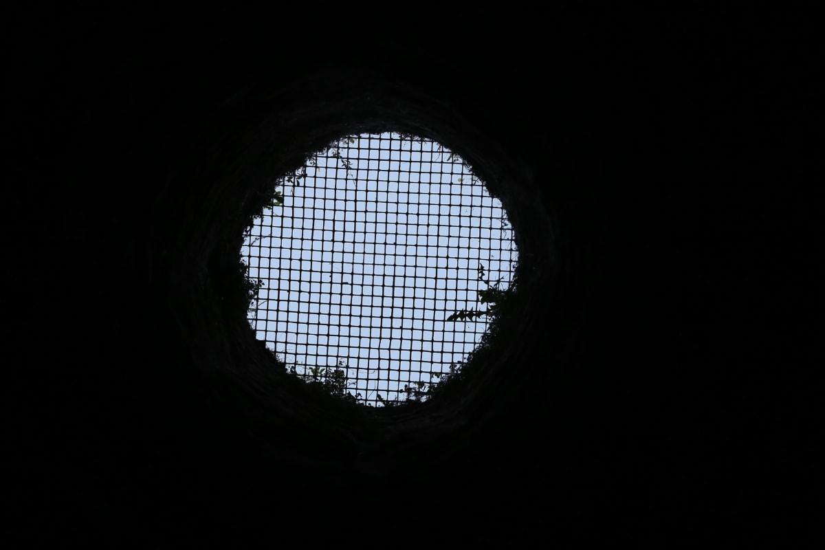 hole, dungeon, jail, darkness, tunnel, window, framework, art, light, dark