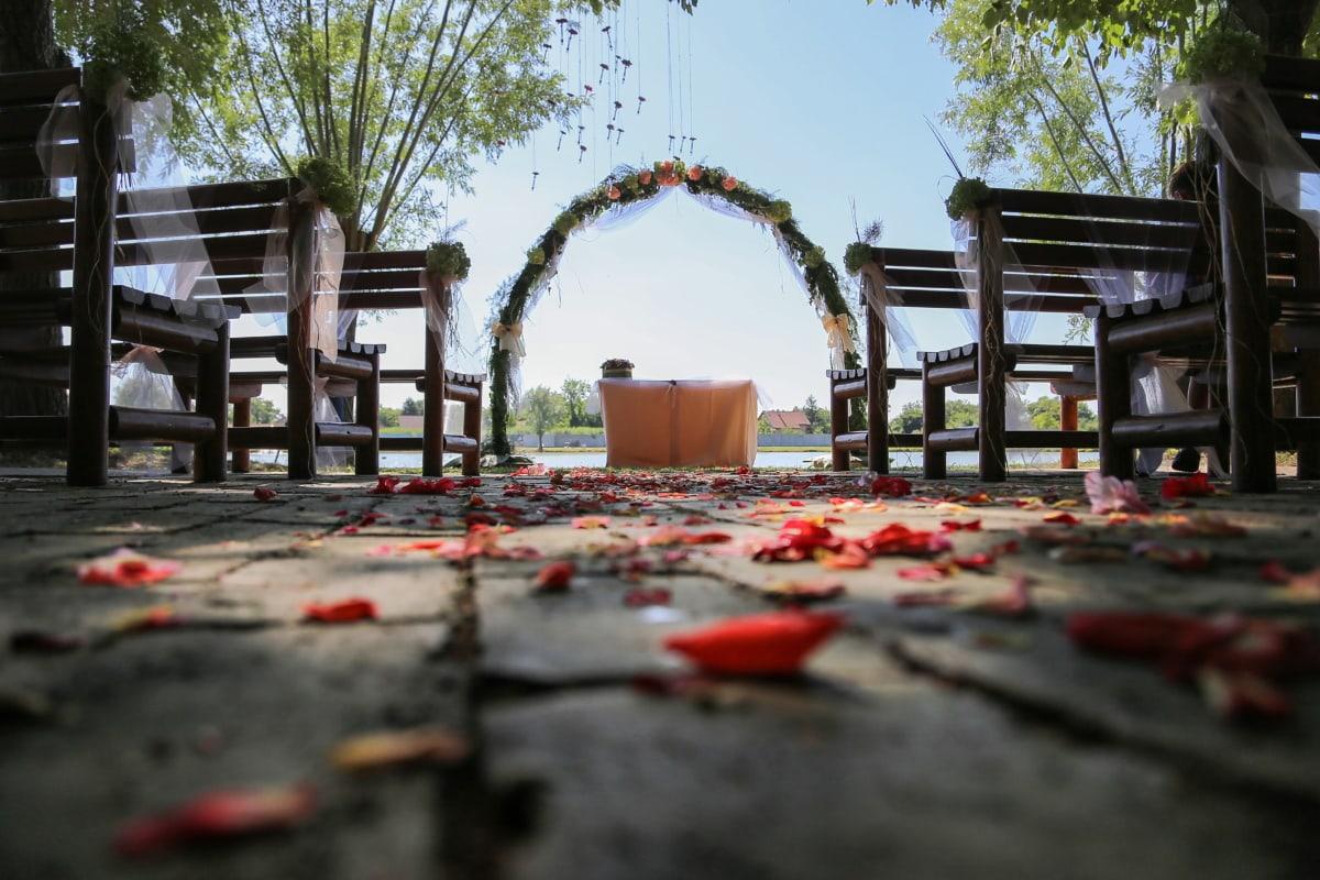 mariage, événement, décoration, chaises, vide, structure, logement, architecture, Création de, maison