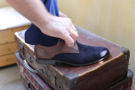 Почистване, ръчно изработени, багаж, кожа, двойка, обувки, обувки, мода, реколта, жена