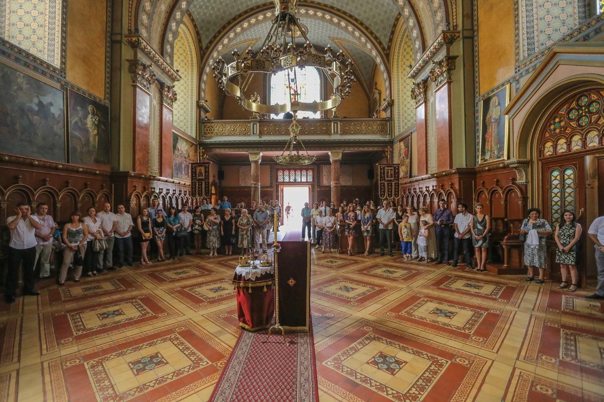 Menge, Kirche, Zeremonie, Krönung, spektakuläre, Zuschauer, Religion, Vorraum, Architektur, Kathedrale