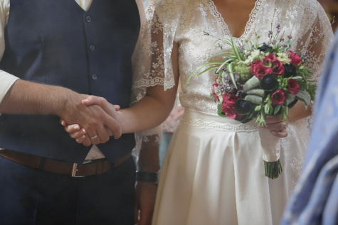 comfort, marriage, wife, ceremony, husband, wedding ring, wedding bouquet, wedding dress, groom, dress