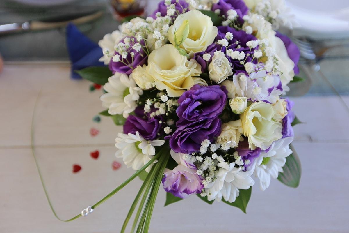 bouquet de mariage, bouquet, des roses, romance, décoration, fleur, nature, mariage, feuille, Rose