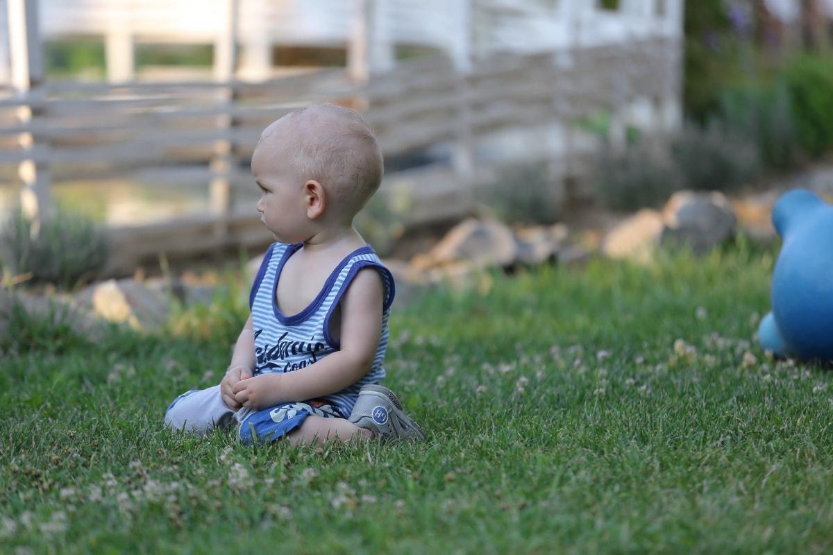 enfant en bas âge, bébé, petite enfance, enfant, herbe, parc, amusement, mignon, jeune fille, Portrait