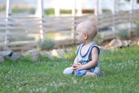 아들, 유아, 아기, 순수, 공원, 어린 시절, 아이, 잔디, 아이, 재미
