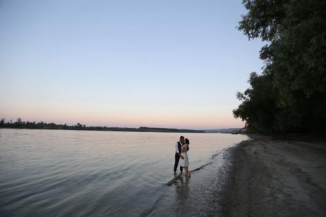 plage, baiser, étreindre, amour, rive, Lac, eau, au bord du lac, Banc de sable, océan