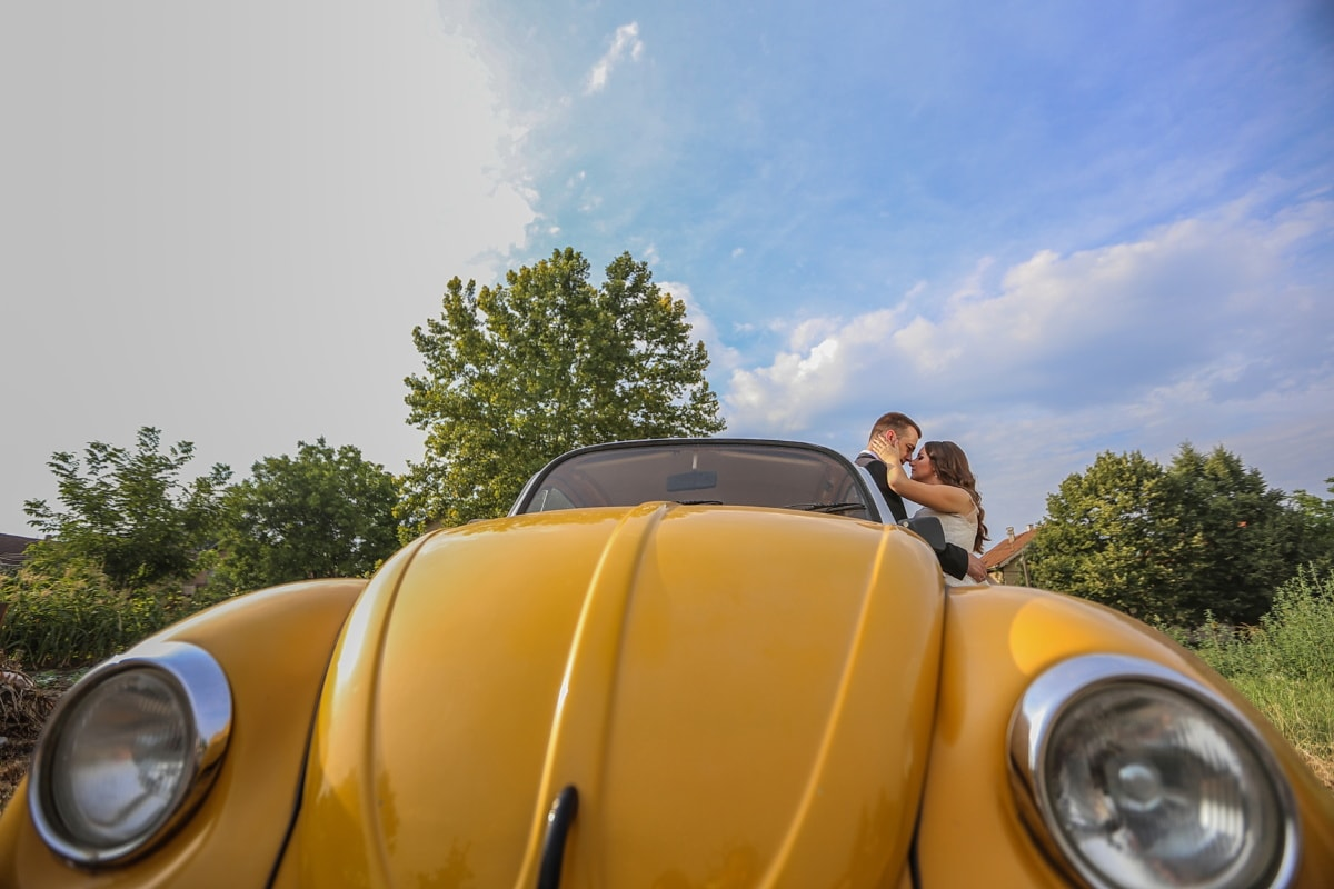 oldtimer, car, romance, lover, love, embrace, windshield, convertible, vehicle, classic