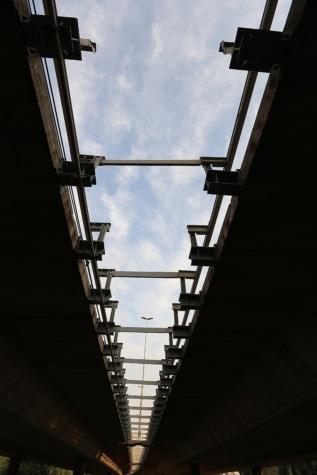 Most, vysoký, stín, perspektiva, struktura, průmysl, ocel, stavba, průmyslové, vysoká
