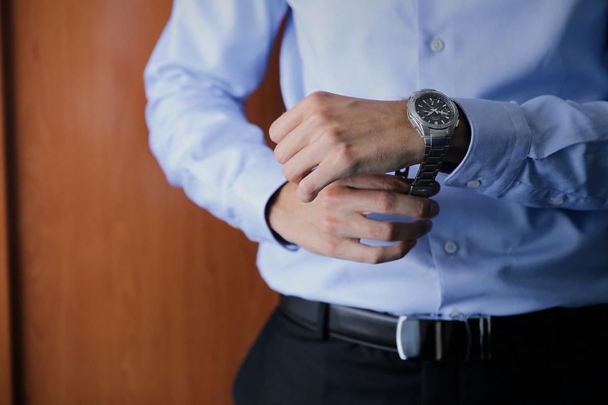 紳士, 高級, 腕時計, 実業家, 手, 体, パンツ, 男, 人々, 屋内で
