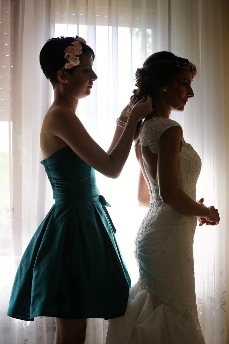 friends, girlfriend, wedding, wedding dress, bride, fashion, model, dress, woman, girl